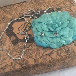 Brighton Blue Turquoise patent leather bag